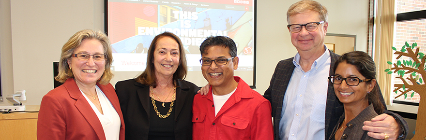 Anita McBride with panelists