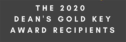 2020 Deans Gold Key