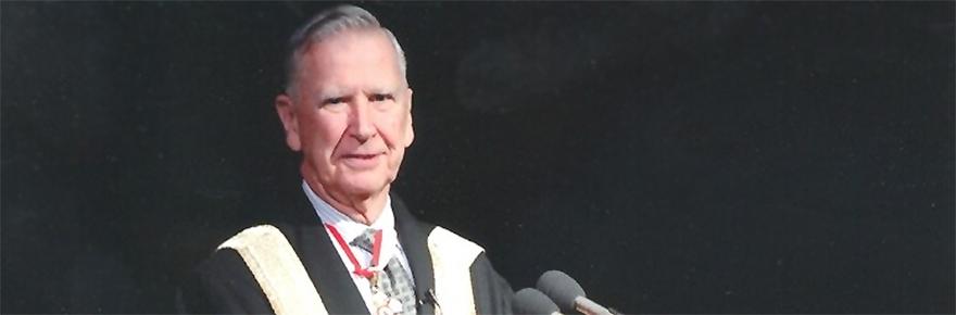 Chancellor Cory at Convocation
