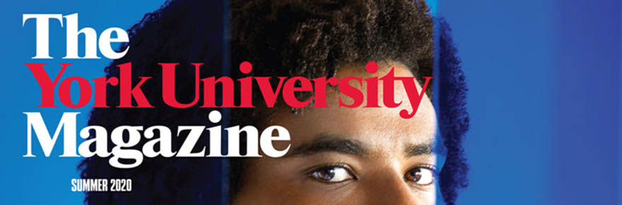 A cropped image of the cover of the summer 2020 York University Magazine