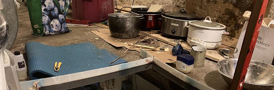 Creative Shift FEATURED image showing Ella Dawn McGeogh basement studio