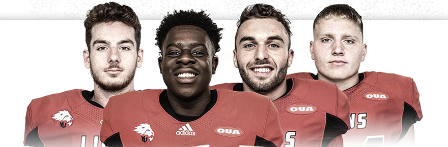 Four members of the York University Lions football team were selected to the 2021 East-West Bowl roster announced by U SPORTS and the Canadian Football League (CFL): Kwadwo Boahen, Dawson Davis, Matt Dean and Dante Mastrogiuseppe
