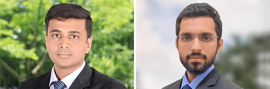 Abhay Punia (MBA '22) and Rohan Gupta (MBA '22)