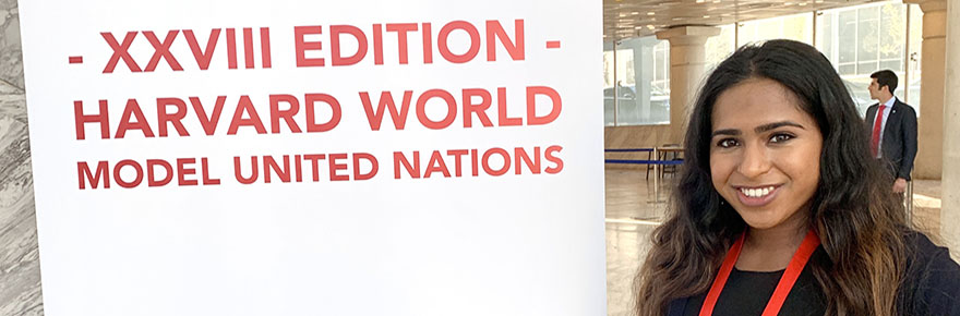 Hanaa Ameer at the Harvard World Model UN