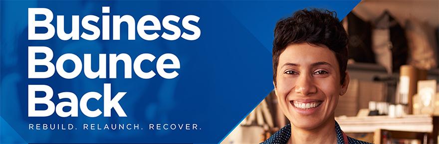 Business Bounce Back program banner ad