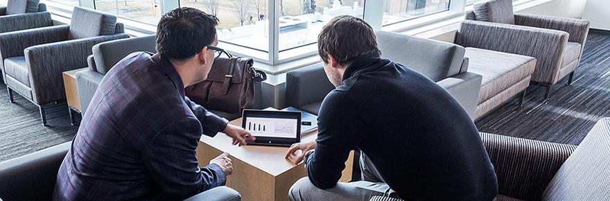 laptop students work lounge