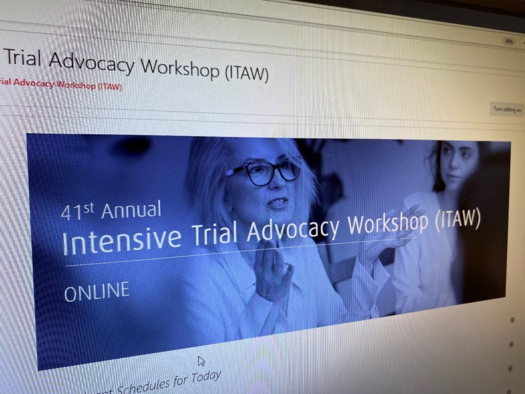 Osgoode Professional Development (OsgoodePD)'s Annual Intensive Trial Advocacy Workshop (ITAW) won the Award of Outstanding Achievement in the Technology category for the 2021 Association for Continuing Legal Education (ACLEA)'s Best Award