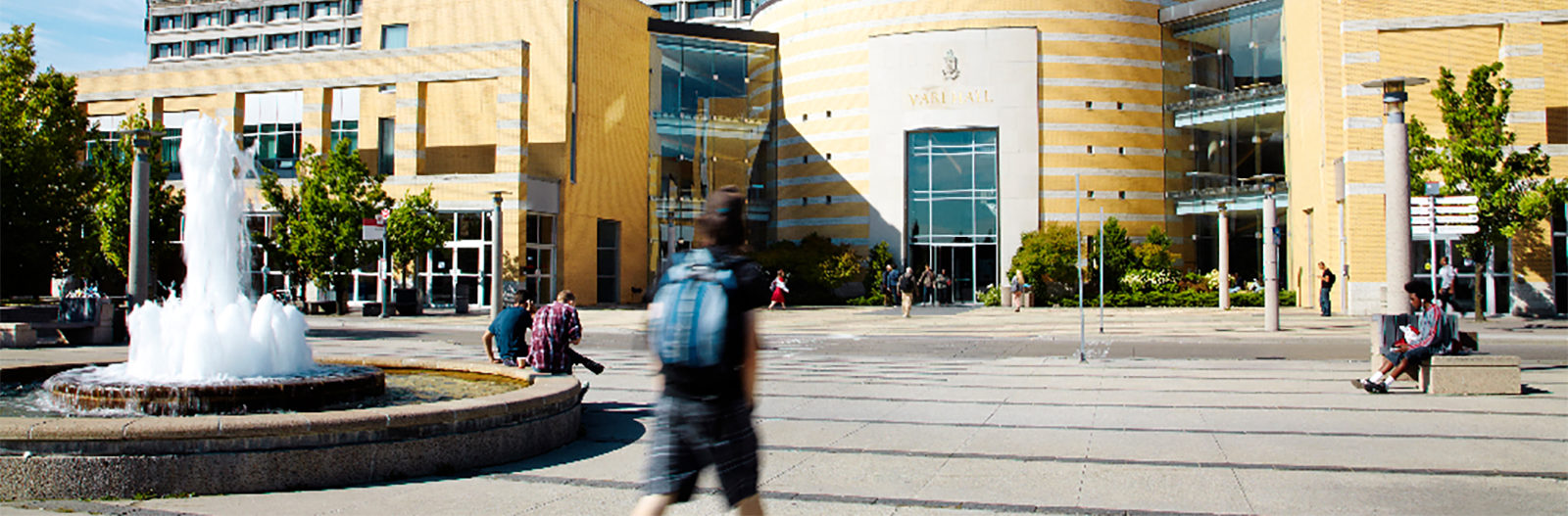 Vari Hall Sunny Day with fountain in foreground FEATURED image