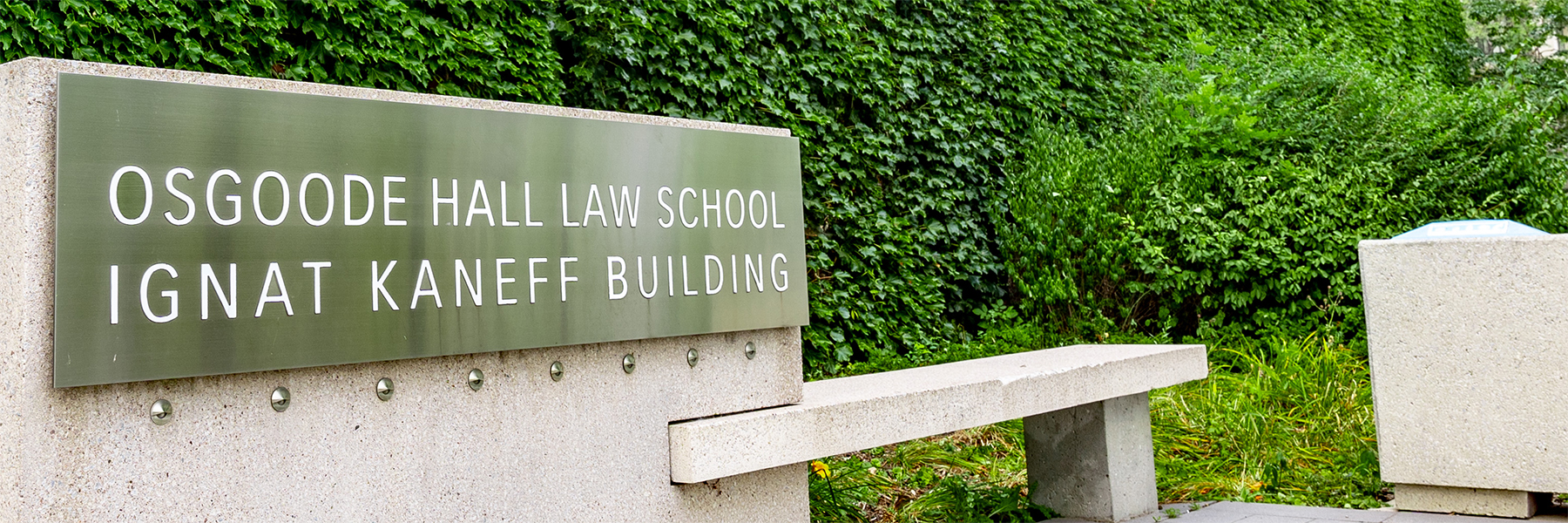 Osgoode Hall Law School entrance to the Ignat Kaneff building